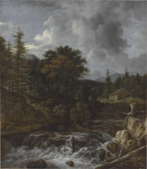 Painting by Jacob van Ruisdael in the collection of Adam Gottlob Moltke in 1812