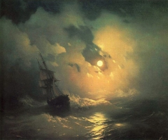 Stormy Sea at Night, 1849