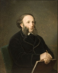 Portrait of Aivazovsky by Dmitry Bolotov (1876)