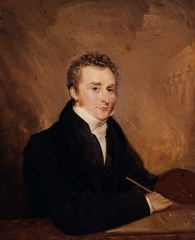 Portrait of John Martin by Henry Warren, 1839