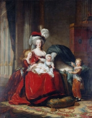 Marie Antoinette and her Children, 1787