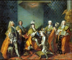 Louis XV Conferring the Order of the Holy Spirit on the Count de Clermont, 1730