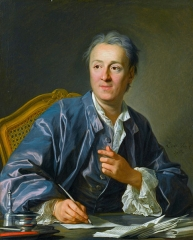 Portrait of Denis Diderot, painted 1767