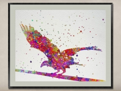 Watercolor Painting-Original Fine Art-Unique Art print Gift-Home Wall Decor Artwork-Eagle-A03