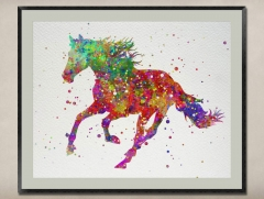 Watercolor Painting-Original Fine Art-Unique Art print Gift-Home Wall Decor Artwork-Horse-A05