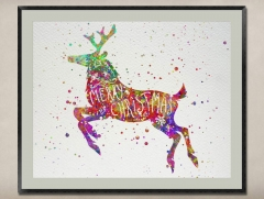 Watercolor Painting-Original Fine Art-Unique Art print Gift-Home Wall Decor Artwork-Deer-A08