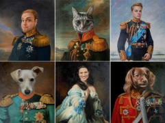 Custom Oil Portrait Painting, Hand Painte Oil Painting, Paint Faces on Famous History Painting, Original Royal Portrait, Family Portrait, Pet Portrait