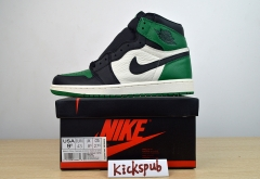 Air Jordan 1 OG aj1 new black green toe 555088 302