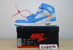 "OFF-WHITE x Air Jordan 1 ""Powder Blue""AQ0818-148"