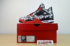 Air Jordan 4 Tattoo AJ4 Tattoo Graffiti Black Red BQ0897-006