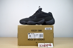 "Yeezy 500 old shoes black Utility Black F36640 ""U"