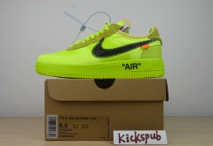 OFF WHITE x Nike Air Force 1 To Release In Volt-Based Colorway