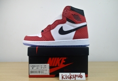 Air Jordan 1 Retro High OG AJ1 Spider-Man Chicago White Red Spot 555088-602