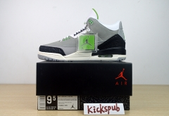 Air Jordan 3 Air Trainer AJ3 Gray Green Manuscript 398614 136064-006