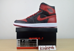 Air Jordan 1 Retro High Banned AJ1 Joe 1 Black Red Forbidden - 432001 001