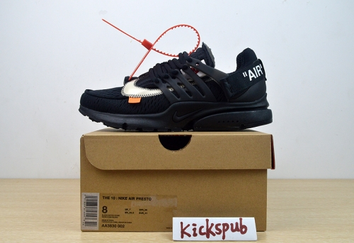 OFF-WHITE x Nike Air Presto OW 2.0  Black AA3830-002