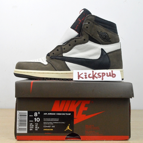 Air Jordan 1 Hi OG x Travis Scott TS CD4487 100