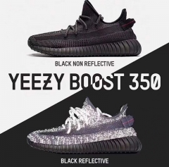 Yeezy Boost 350 V2 Black Angel Black Soul Hollow Black Coconut Running Shoes FU9006