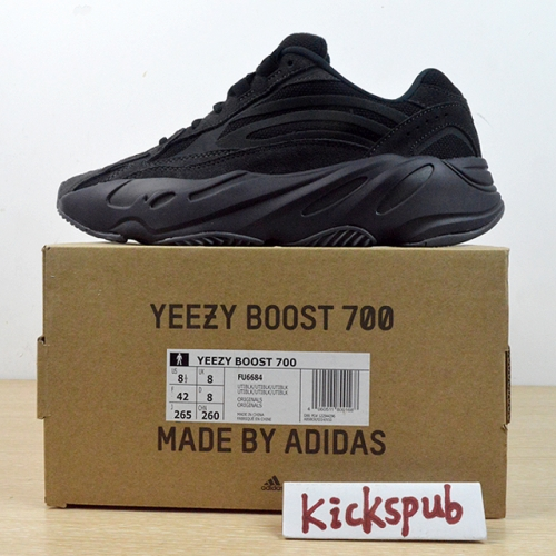 Adi^das Yeezy Boost 700 V2 Black Soul Black Grey Coconut Retro Running Old Shoes FU6684
