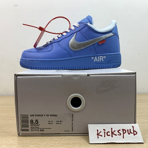 "GOAT OFF-WHITE X Air Force 1 ""MCA"" Blue"