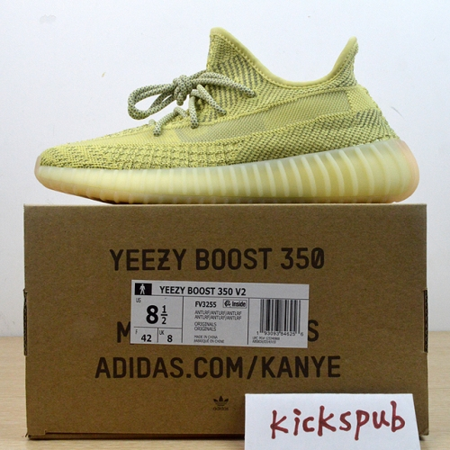 Yeezy Boost 350 V2 Yellow static reflection