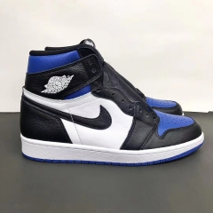 Air Jordan 1 AJ1 Royal Blue Black Blue Toe High Top 555088-041