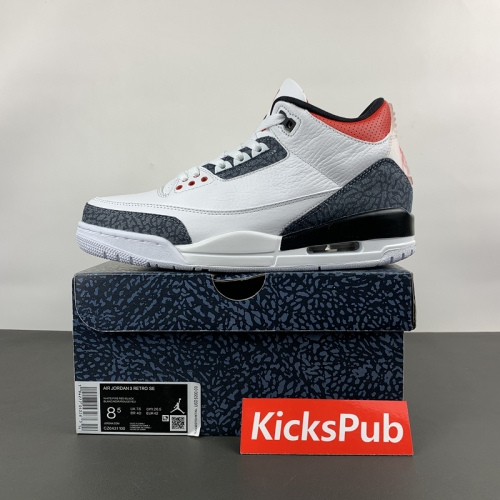 Air Jordan 3 AJ3 Flame Red Japan Limited White Cement CZ6433-100