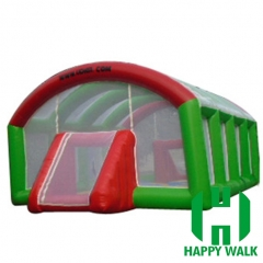 Commercial Outdoor Inflatable Ball Race Game Filed  with tent for Football and  Sport