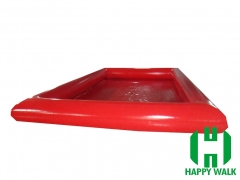 Custom Cubic Red Colored Giant Commercial Outdoor Inflatable Pool for Water Walking Ball,Hand Boat,Bumper Boat