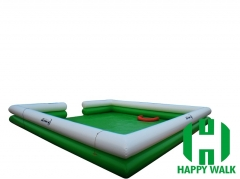 Custom Two Layer Cubic White Green Colored Giant Commercial Outdoor Inflatable Pool for Water Walking Ball,Hand Boat,Bumper Boat