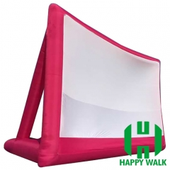 Outdoor Advertising Red Inflatable Movie Screen