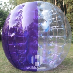 Half Purple Half Clear Soccer Bubble