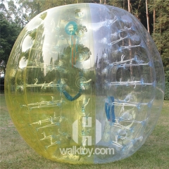 Half Light Green Half Clear Inflatable Soccer Bubble