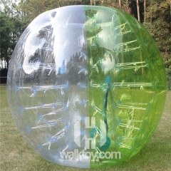 Half Dark Green Half Clear Soccer Bubble