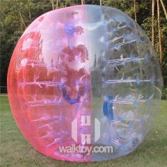 Half Pink Half Clear  inflatable Soccer Bubble