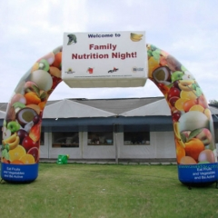 Full Printing Fruit Advertising Inflatable Acrchway