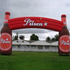 Beer Bottle Advertising Inflatable Acrchway