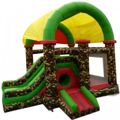 Camouflage Inflatable Bouncer Slide