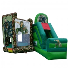 Soldier Camouflage Military Inflatable Bouncer Slide