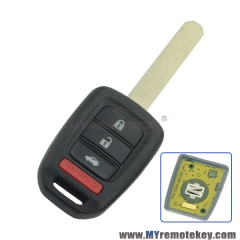 Remote head key 313.8 Mhz HON66 4 button MLBHLIK6-1T for Honda Accord LX Sport Civic CRV 2013 2014 2015