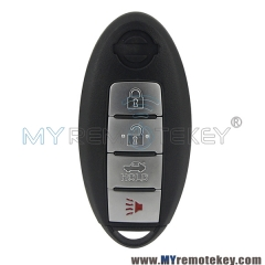 Smart key 3 button with panic 315mhz for Nissan Cube Juke Leaf Quest Versa Note 2011 - 2015 CWTWB1U808 285E3-1KM0D