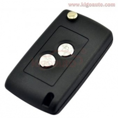 Refit flip key shell 2 button for Citroen