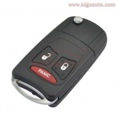 Refit flip Key Shell 2 button with panic For Chrysler Aspen