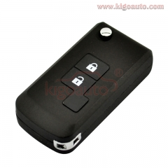 Refit flip key shell 2 button for Nissan