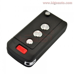 Flip key shell 3button+panic for Nissan