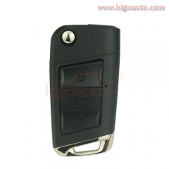 Refit flip key shell 3 button HU66 for VW
