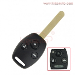 2008 Accord 5wk49309 3 button 433.9 Mhz HON66 Remote key for Honda