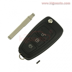 OEM remote key 3button 434 Mhz HU101 blade with ID63chip for Ford Focus AM5T 15K601 AD