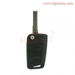 5G0 959 753 AA flip key shell 3 button HU66 blade for VW Golf 7