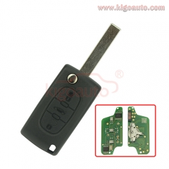 CE0523 Flip key 3 button HU83 434Mhz with ID46 chip pcf7941 ASK for Citroen